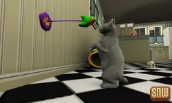 The Sims 3 Pets: Oopsie-Daisy the cat playing with bird toy