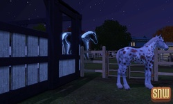 The Sims 3 Pets: Estela the ghost horse and GooGoo