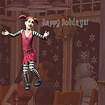 Sims 2 Happy Holidays 2010 wallpapers (iPad)