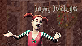 Sims 2 Happy Holidays 2010 wallpapers (PSP)