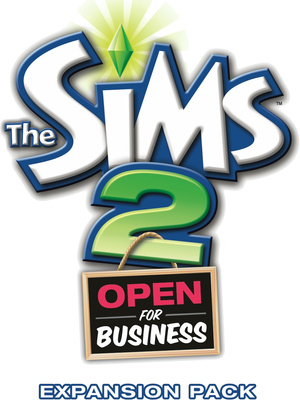 The Sims 2: Open for Business logo