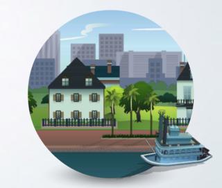 The Sims 4: Magnolia Promenade world