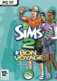 The Sims 2: Bon Voyage box art packshot