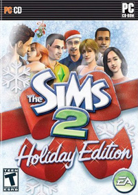 The Sims 2: Holiday Edition (2006) box art packshot US