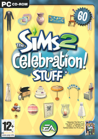 The Sims 2: Celebration! Stuff box art packshot