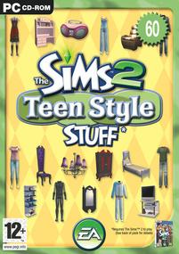 The Sims 2: Teen Style Stuff box art packshot