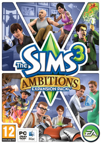 The Sims 3: Ambitions box art packshot