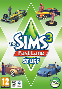 The Sims 3: Fast Lane Stuff box art packshot