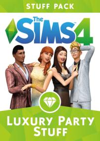 The Sims 4: Luxury Party Stuff box art packshot