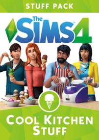 The Sims 4: Cool Kitchen Stuff box art packshot