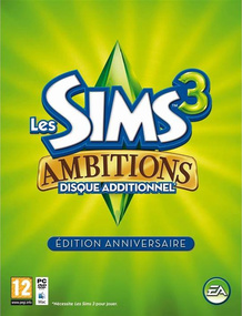 The Sims 3: Ambitions Commemorative Edition packshot box art