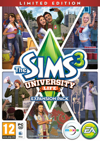 The Sims 3: University Life (Limited Edition) packshot box art