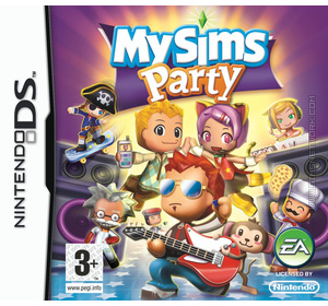 MySims Party DS box art packshot
