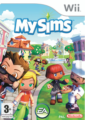 MySims Wii box art packshot