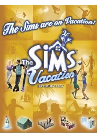 The Sims: Vacation for Mac box art packshot