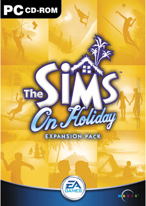 The Sims: On Holiday box art packshot