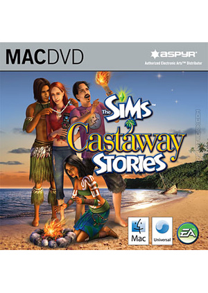 The Sims: Castaway Stories for Mac box art packshot jewel case