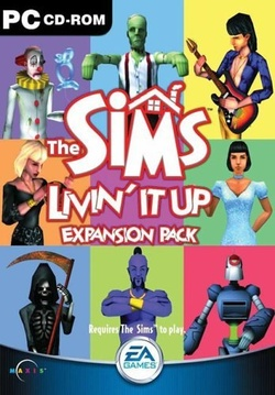 The Sims: The Sims: Livin' It Up box art packshot
