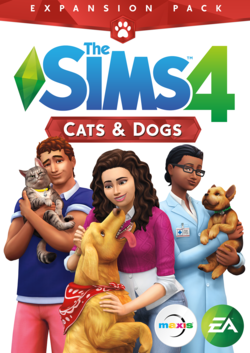 The Sims 4: Cats & Dogs packshot box art