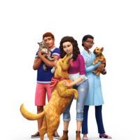 The Sims 4: Cats & Dogs render artwork